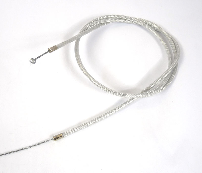 Lambretta Cable complete, gear, stainless steel braided friction free nylon lined, Race-Tour, MB