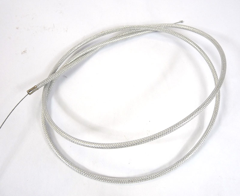 Lambretta Cable complete, throttle, braided friction free nylon lined, long type, Race-Tour, MB