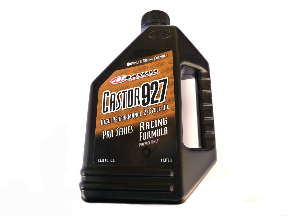 Oil, 2 (two) stroke, Castor 927 Racing, Pre-Mix only (do not mix with other oils) Maxima
