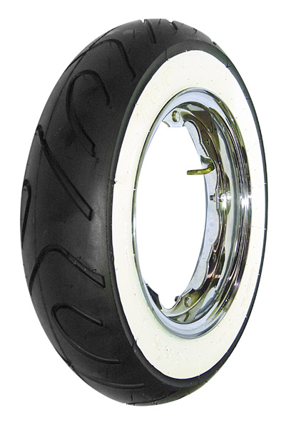 Lambretta Tyre, Mitas, 350:10, MC18, Sports Whitewall