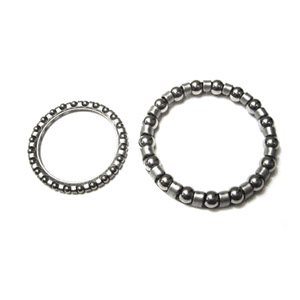 Fork steering bearing kit, top and bottom (just the ball bearings) (upper, lower)