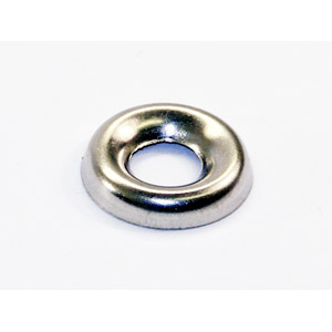 Washer, cup, 5mm, horn cast, stainless steel