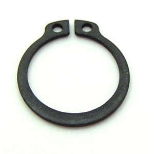 Circlip, 12mm external, for clutch and rear brake shafts, self coloured