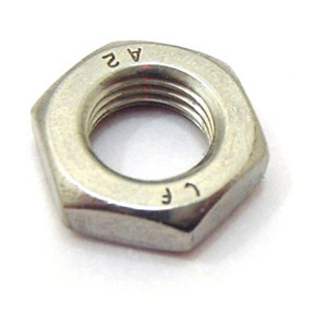 Nut, half lock, 12 x 1.50mm for hub spindle, stainless steel