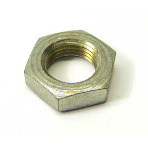 Nut, half lock, 16 x 1.5mm for Lambretta rear shocker, zinc plated