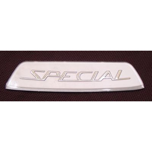 Badge, rear frame, Special, Silver type