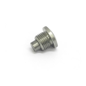 Crankcase side drain plug, stainless steel, MB