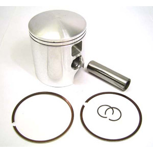 Piston kit, 66.00mm, 39mm crown, Race-Tour for Lambretta piston port cylinders, MB