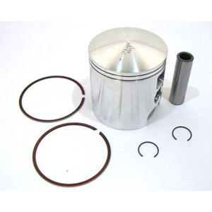 Piston kit, 65.50mm, 39mm crown, Race-Tour for Lambretta piston port cylinders, MB