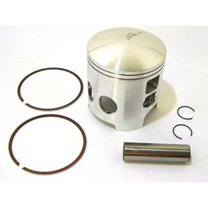 Piston kit, 65.50mm, 39mm crown, Race-Tour for Lambretta reed cylinders, MB