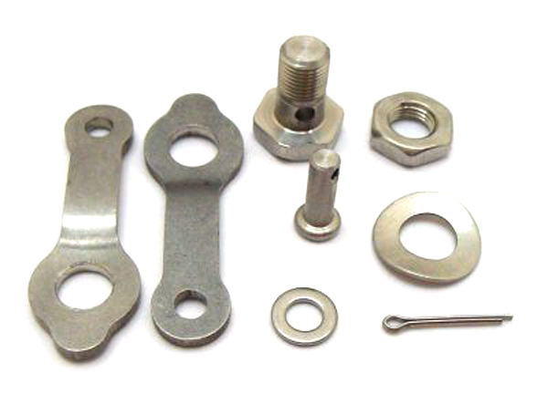 Lambretta rear brake pedal clamp kit, stainless steel, MB