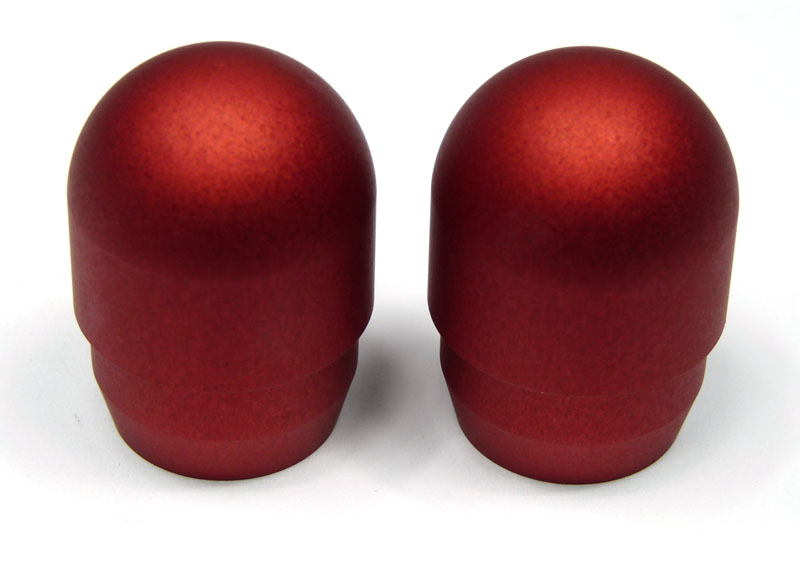 Bar ends for late Lambretta Series 3, anodised Red, pair, MB