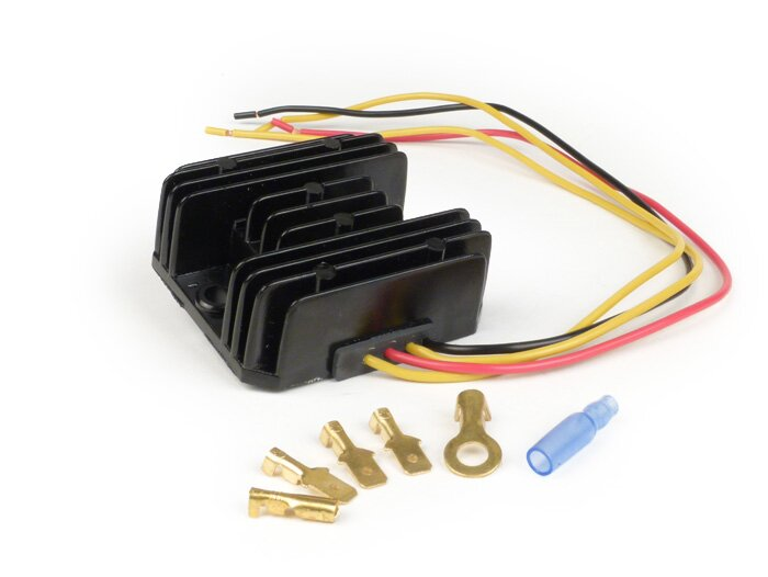 Lambretta Electronic ignition rectifier, 12 volt DC (Wassell/Podtronics)