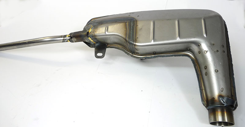 Lambretta Exhaust, Clubman (Big Box) unpainted, MBgm
