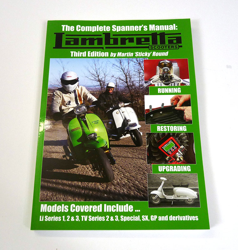 Lambretta Book, Lambretta Spanners manual by Sticky, 3rd edition, Series 1, 2, 3, Gp