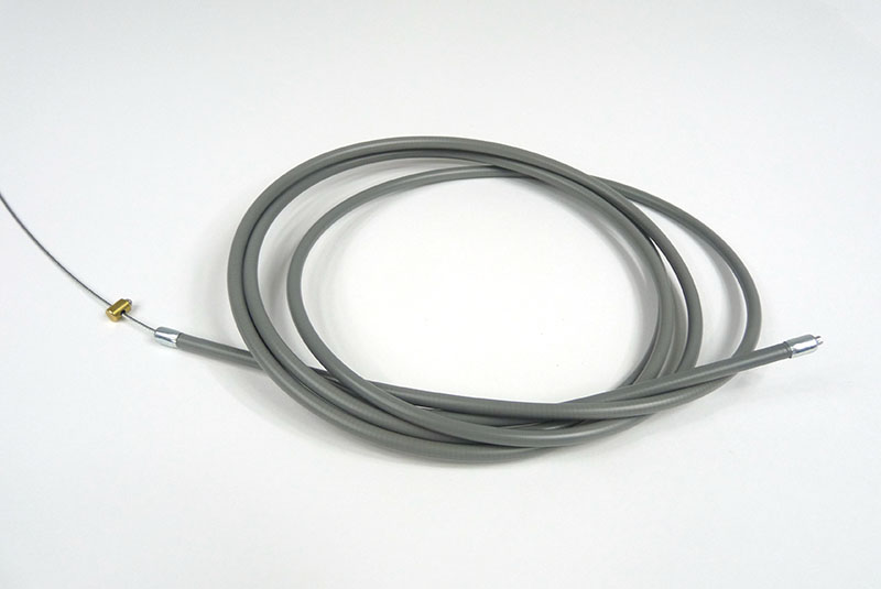 Throttle cable GREY for Large carbs, perfect fitting, nylon lined