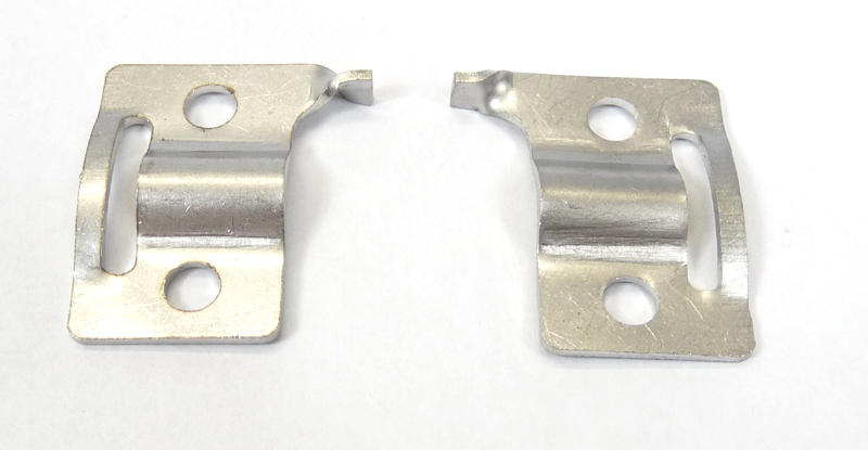 Lambretta Side panel spring clip plates, Series 3 panel handle type, stainless steel, MB