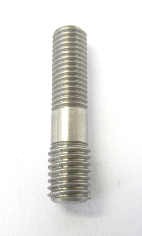 Lambretta Stud stepped repair 8/7mm - 17x7x10mm, oval exhaust port, stainless steel, MB