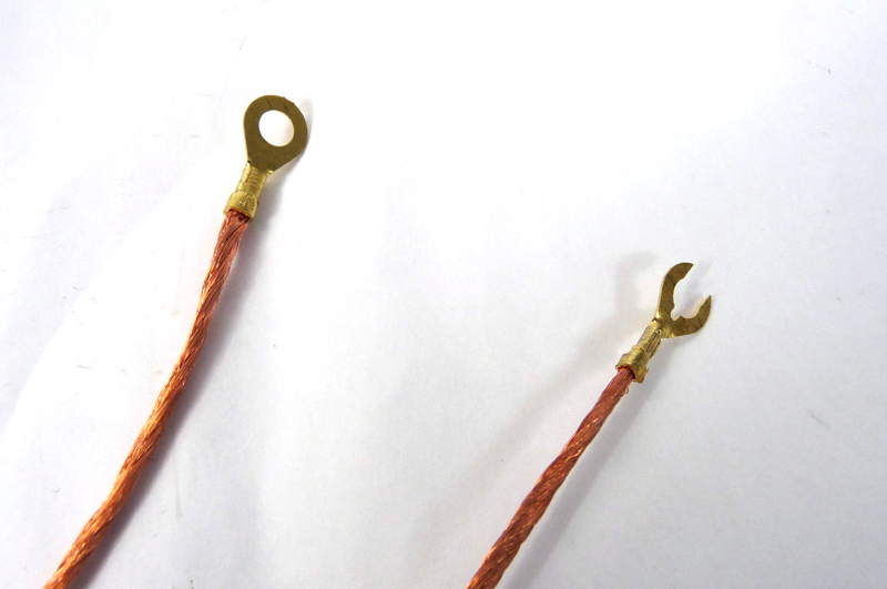 Lambretta Wiring loom, earth wire (strap, loom) as original braided copper, MB