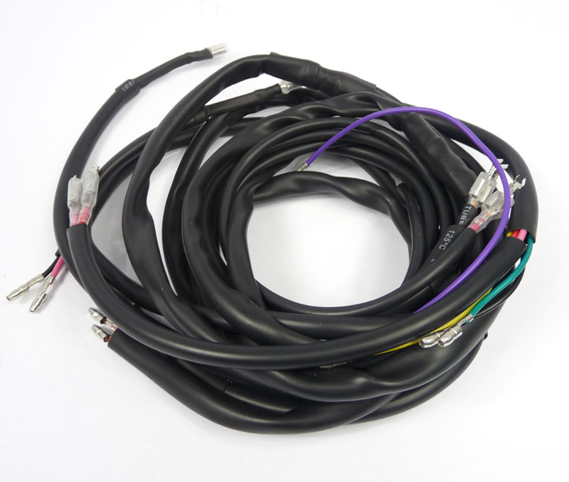 MRB0803K_1 wiring loom universal ac, ac dc, dc, fits all, includes mb earth lambretta wiring loom diagram at soozxer.org