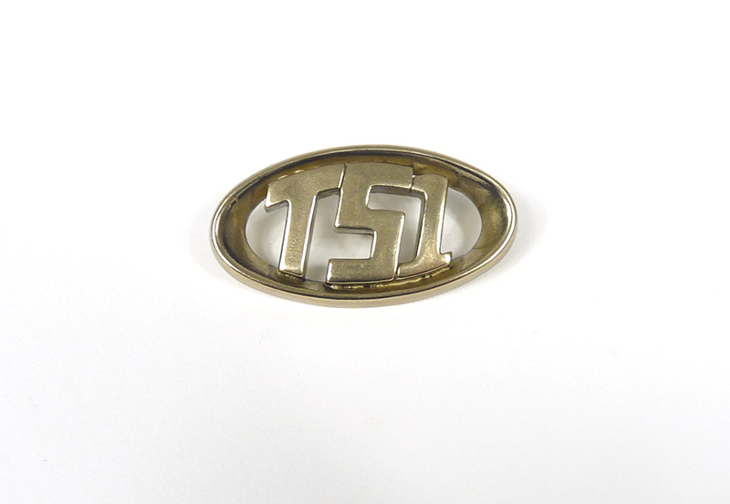 Horncast badge, TS1, Gp, MB BRASS