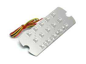 Rear light reflector, LED, AC and DC, 12v Series 3, BGM