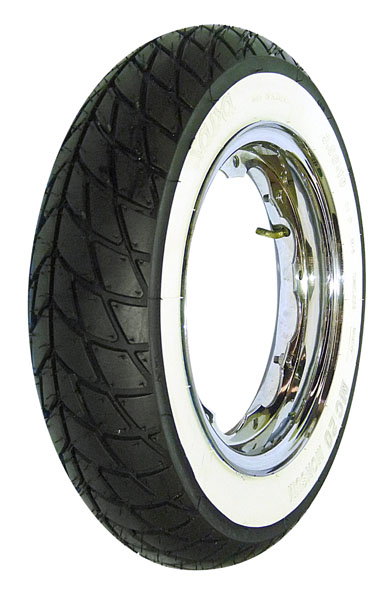 Lambretta Tyre, Mitas, 350:10, MC20, Monsum Road Whitewall also a mud and snow winter tyre