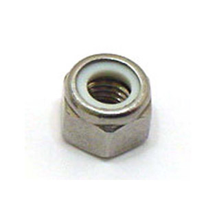 Nut 8mm nyloc, original looking wheel nut with White nylon insert, stainless steel