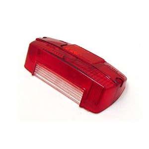 Lambretta Rear light lens, Li, Tv (angle lens) Carello